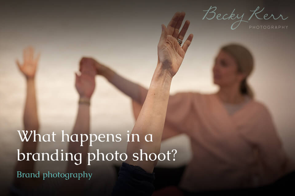 What happens in a branding photo shoot?