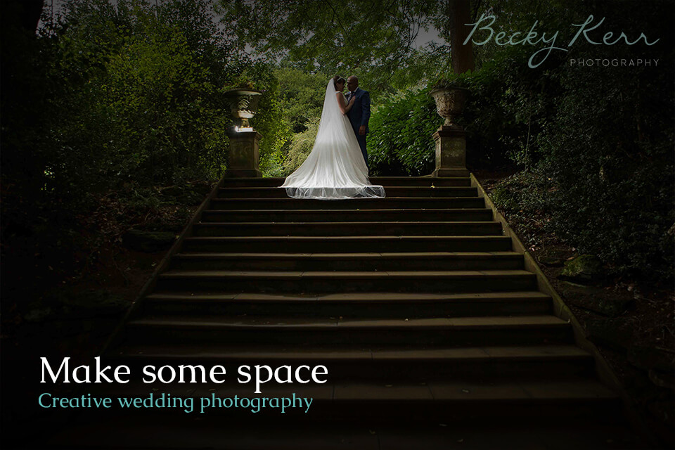 How to use space in creative wedding photography