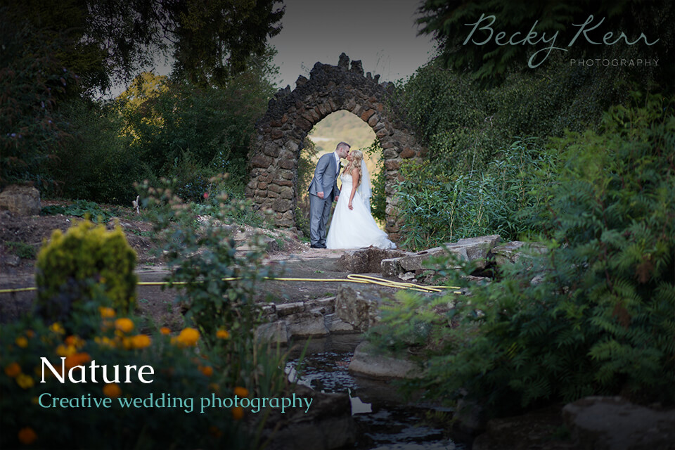Nature creative wedding photography example