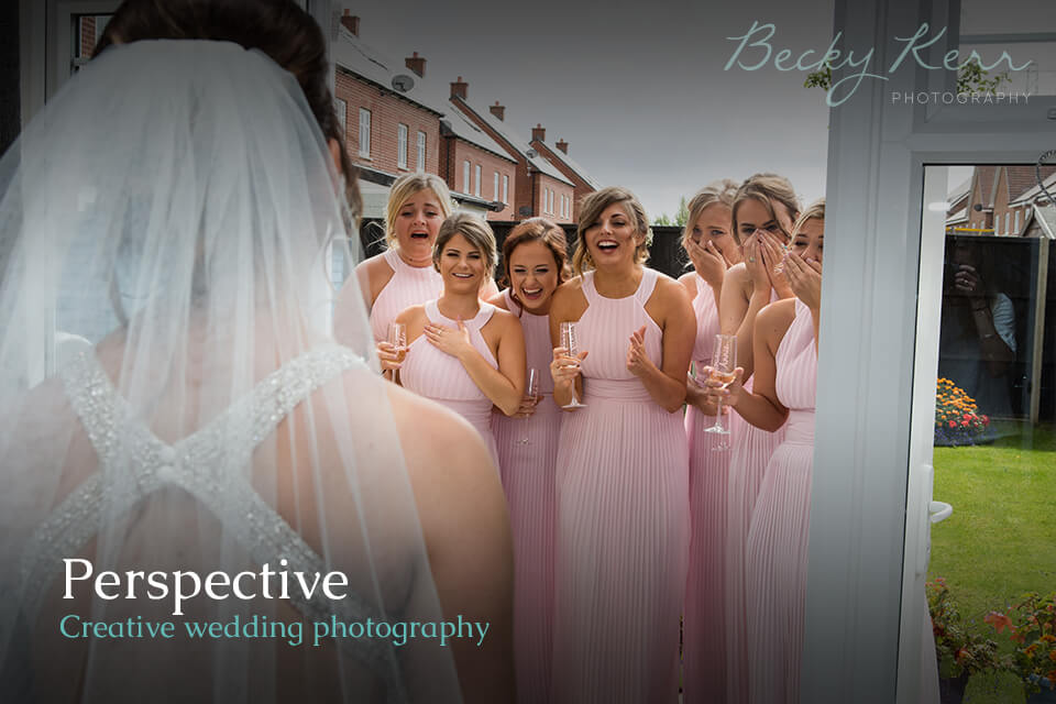 An example of how to use perspective in creative wedding photography