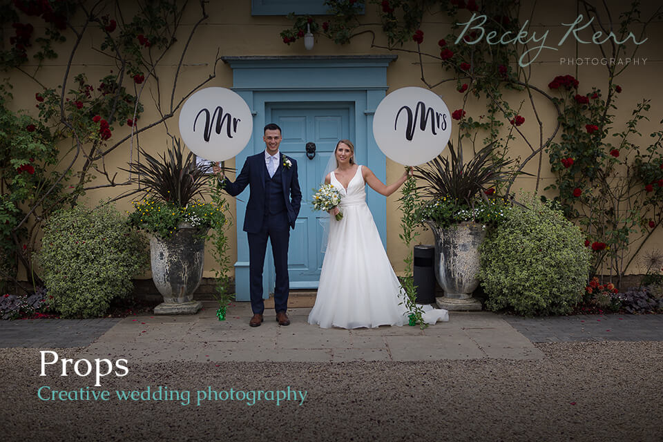 How to use props in creative wedding photography