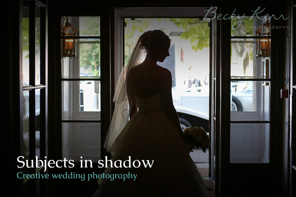 Subjects in shadow a creative wedding photography example