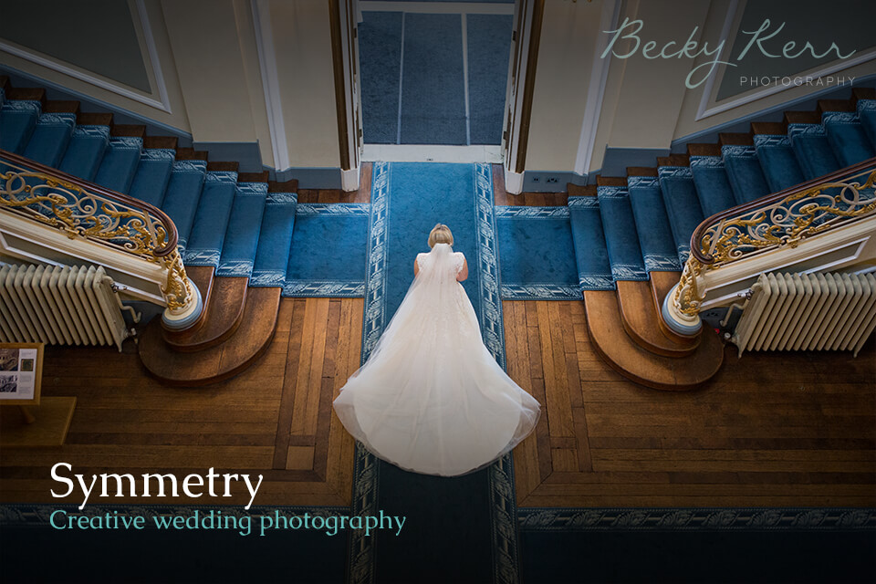 An example of how to use symmetry in creative wedding photography