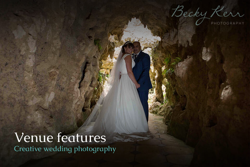 Venue Features creative wedding photography example