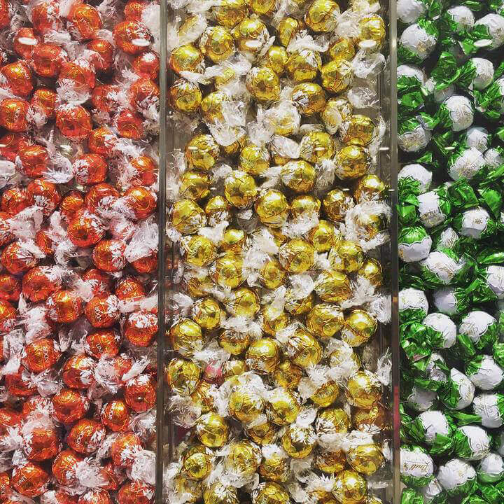 A picture of coloured sweets