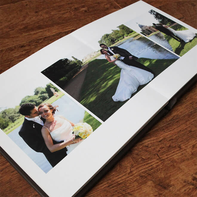 A wedding photography album
