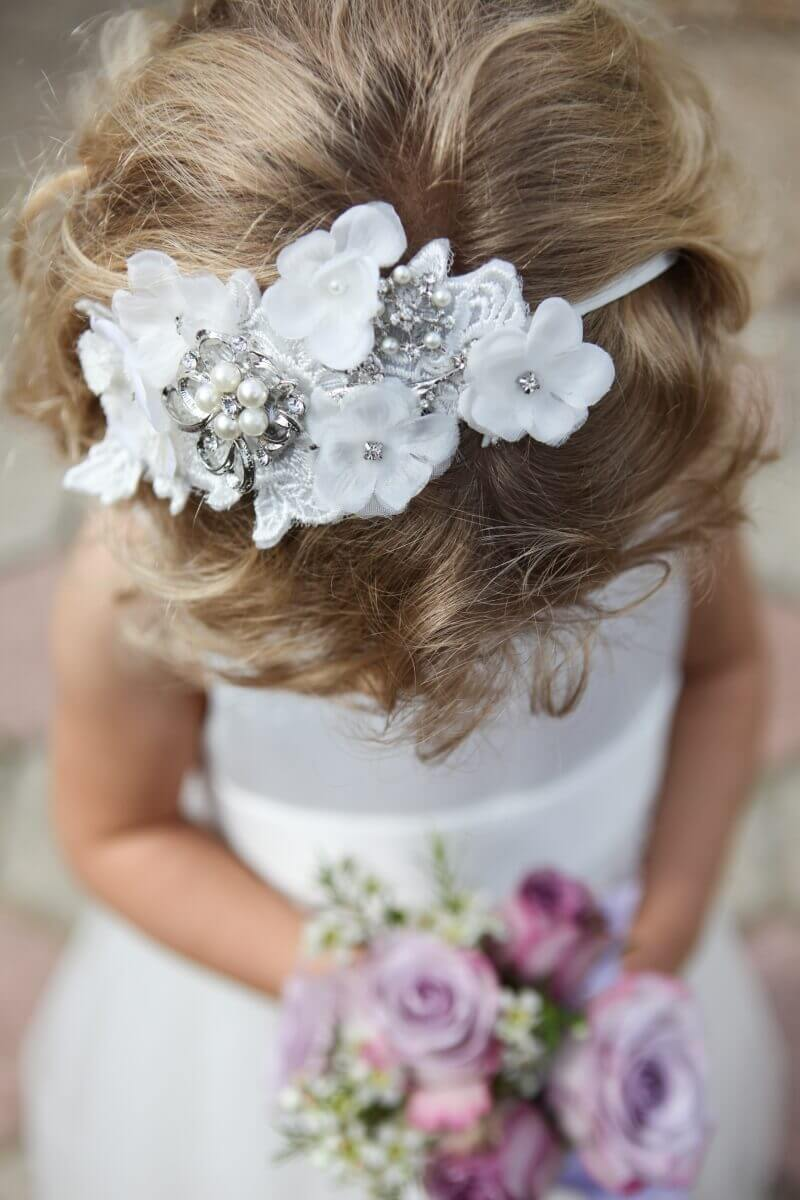 Flower girl at Moggerhanger Park Bedfordshire