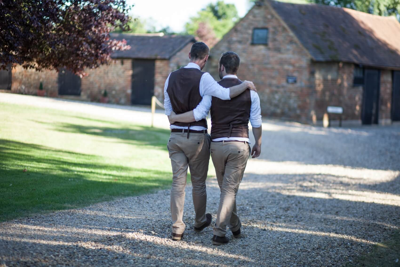 Same sex ceremony at the Priory Barns in Hertfordshire