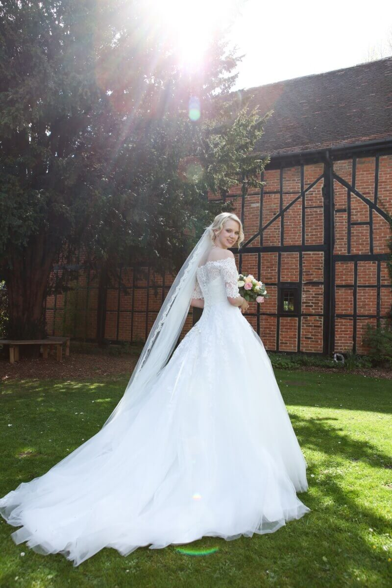 Summer bride at The Barns Hotel Bedford